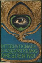 ALBERT KLINGNER (1869-1912). INTERNATIONALE KUNSTAUSSTELLUNG DRESDEN. 1901. 10x7 inches, 26x18 cm.