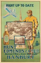 DESIGNER UNKNOWN. RIGHT UP TO DATE / HUNT EDMUNDS & CO. LTD. / BANBURY. Circa 1916. 60x40 inches, 153x101 cm. Henry Stone & Son Ltd., B