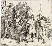 ALBRECHT DÜRER Five Soldiers and a Turk on Horseback.