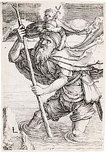 LUCAS VAN LEYDEN St. Christopher with the Christ Child.