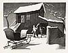 GRANT WOOD December Afternoon., Grant Wood, $1,100