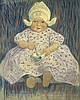 MARCIA OAKES WOODBURY Seated Dutch Child with a Bowl and Spoon.
