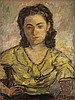 MOSES SOYER Portrait of a Woman.