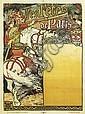 EUGÈNE GRASSET (1841-1917). LES FÊTES DE PARIS. 1897. 51x36 inches, 130x93 cm. Monnier & Cie., Paris.