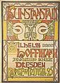 RICHARD MÜLLER (1874-1954). KUNSTANSTALT / WILHELM HOFFMANN. 1896. 57x41 inches, 146x104 cm. Wilhelm Hoffmann, Dresden.