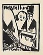 BERNHARD KRETZSCHMAR (1889-1972). AUSSTELLUNG ILLUSTRIERTER ZEIT SCHRIFTEN. 1919. 26x20 inches, 67x52 cm.