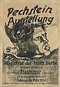MAX PECHSTEIN (1881-1955). PECHSTEIN - AUSSTELLUNG. 1946. 23x16 inches, 58x40 cm. Maximilian-Druck, Berlin.