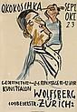 OSKAR KOKOSCHKA (1886-1980). O. KOKOSCHKA / KUNSTSALON WOLFSBERG ZÜRICH. 1923. 50x35 inches, 127x90 cm. Zurich.