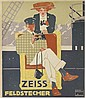 LUDWIG HOHLWEIN (1874-1949). ZEISS FELDSTECHER. 1912. 19x16 inches, 49 x42 cm. Vereinigte Druckereien & Kunstanstalten, Munich.