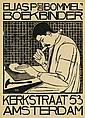 TH. H. MOLKENBOER (1871-1920). ELIAS P VAN BOMMEL / BOEKBINDER. 1897. 33x24 inches, 85x61 cm.