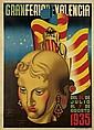 JOSEP RENAU-MONTORO (1907-1982). GRAN FERIA DE VALENCIA. 1935. 64x45 inches, 162x115 cm. Ortega, Valencia.