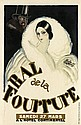 ASTA TIGRI (DATES UNKNOWN). BAL DE LA FOURRURE. 1926. 31x20 inches, 79x51 cm. Phogor, Paris.