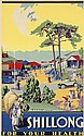 SOBHA SINGH (1901-1986). SHILLONG / FOR YOUR HEALTH. Circa 1930. 40x25 inches, 102x64 cm. The Eagle Lithographing Co., Ltd., Calcutta.