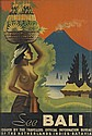 E. KORVER (DATES UNKNOWN). SEE BALI. 1938. 36x24 inches, 91x61 cm. Kolff, Neth. Indies.