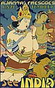 G. M. SOLCQUANDAR (DATES UNKNOWN). SEE INDIA / AJANTA FRESCOES / CAVE TEMPLES. 1934. 39x25 inches, 100x63 cm. Bolton Fine Art, Bombay.