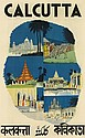 DESIGNER UNKNOWN. CALCUTTA. 1941. 39x24 inches, 100x63 cm. E.I.R. Press, Calcutta.
