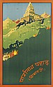 DOROTHY NEWSOME (DATES UNKNOWN). [PARESHNATH PAHAR.] Circa 1935. 39x24 inches, 101x62 cm. The Indian Press, Ltd. Calcutta.