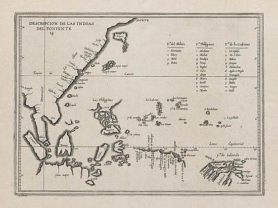 HERRERA y TORDESILLAS, ANTONIO de. Descripcion de las Indias del Poniente. 14.