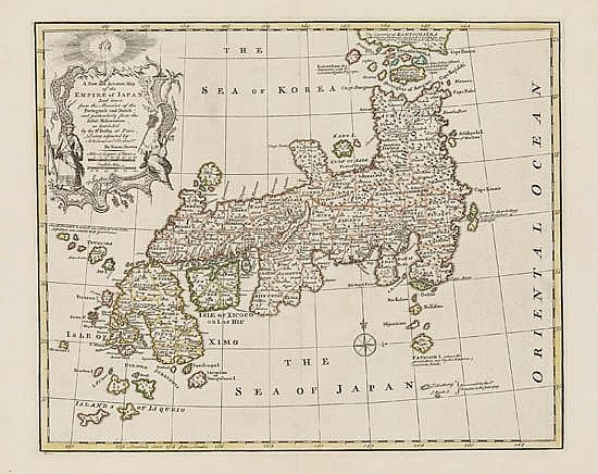 BOWEN, EMANUEL. A New and Accurate Map of the Empire of Japan.