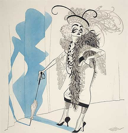 AL HIRSCHFELD Bette Davis as Sadie Thompson in a Sketch from 'Two's Company.'