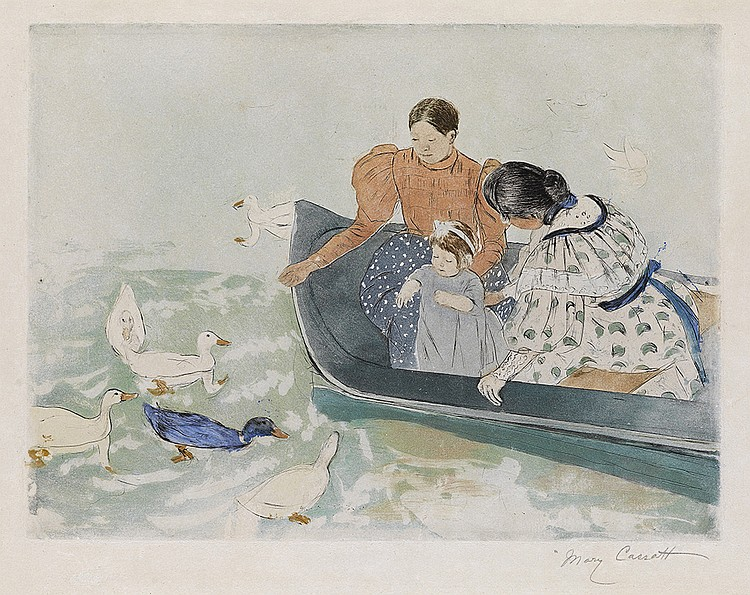 MARY CASSATT Feeding the Ducks.