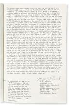 (KENNEDY, JOHN F.) McDonald, Nick. Firsthand account of the capture of Lee Harvey Oswald by the officer who caught him.