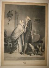 (WASHINGTON, GEORGE--PRINTS.) Group of 3 historical prints featuring Washington's family.