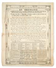(CIVIL WAR--CONFEDERATE.) Secession of the State of Mississippi from the Federal Union . . . An Ordinance to Dissolve the Union.