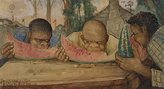 PALMER HAYDEN (1890 - 1973) The Watermelon Race.