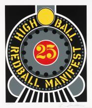 ROBERT INDIANA High Ball Redball Manifest.