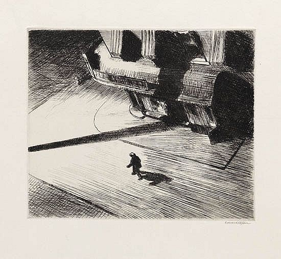 EDWARD HOPPER Night Shadows.
