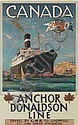 ODIN ROSENVINGE (1880-1957). CANADA / ANCHOR DONALDSON LINE. 39x24 inches, 101x62 cm. Turner & Dunnett, London.