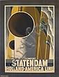 A.M. CASSANDRE (ADOLPHE MOURON, 1901-1968). NEW STATENDAM / HOLLAND-AMERICA LINE. 1928. 40x31 inches, 103x78 cm. Nijgh & Van Dittmar, R, Adolphe Mouron Cassandre, Click for value