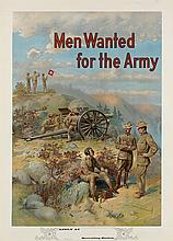 MICHAEL P. WHELAN (DATES UNKNOWN). MEN WANTED FOR THE ARMY. Circa 1910. 39x27 inches, 100x68 cm.