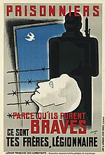 ESCHEN (DATES UNKNOWN). PRISONNIERS. 1941. 44x30 inches, 113x76 cm. B. Arnaud, Lyon-Paris.