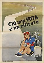 VARIOUS ARTISTS. ITALIAN POLITICAL PROPAGANDA. Group of 5 posters. Circa 1953. Sizes vary.