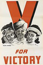 VARIOUS ARTISTS. [INDIA / WORLD WAR II.] Group of 12 posters and assorted leaflets. Circa 1942. Sizes vary.