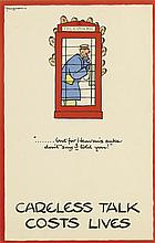 FOUGASSE (KENNETH CYRIL BIRD, 1887-1965). CARLESS TALK COSTS LIVES. Group of 8 posters. Circa 1940. Each approximately 12x8 inches, 31x