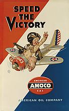 JOSEPH C. LEYENDECKER (1874-1951). SPEED THE VICTORY / AMOCO. Circa 1943. 42x26 inches, 107x67 cm.