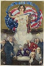 HOWARD CHANDLER CHRISTY (1873-1952). WE THE PEOPLE. 1937. 22x15 inches, 57x38 cm.