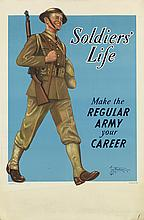 TOM WOODBURN (1893-1980). SOLDIERS' LIFE. 1941. 38x25 inches, 96x63 cm.