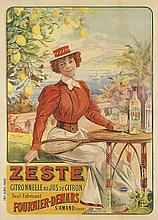 FRANCISCO TAMAGNO (1851-1933). ZESTE. Circa 1910. 55x39 inches, 139x100 cm. Camis, Paris.