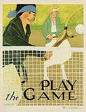 LUCILE PATTERSON MARSH (1890-?). PLAY THE GAME / YWCA. Circa 1938. 25x19 inches, 64x50 cm. Rode & Brand, New York.