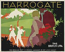 TOM PURVIS (1888-1959). HARROGATE. 1930. 39x49 inches, 101x126 cm. Dangerfield, London.