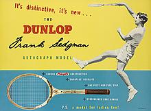 DESIGNER UNKNOWN. THE DUNLOP / FRANK SEDGMAN. 1954. 29x39 inches, 75x100 cm.