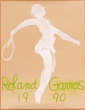 VARIOUS ARTISTS. ROLAND GARROS. Group of 4 posters. 1989-91 and 1999. Each approximately 29x22 inches, 75x57 cm. IML, Paris.