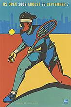 VARIOUS ARTISTS. [TENNIS.] Group of 3 posters. Circa 1980s-2000s. Sizes vary.