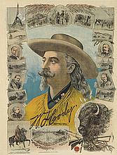 DESIGNER UNKNOWN. W.F. CODY / BUFFALO BILL. Circa 1905. 39x29 inches, 99x75 cm. Weiners Ch. Wall, Paris.