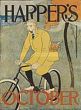 EDWARD PENFIELD (1866-1925). HARPER'S OCTOBER. 1894. 17x13 inches, 44x33 cm.