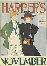 EDWARD PENFIELD (1866-1925). HARPER'S NOVEMBER. 1894. 17x12 inches, 44x31 cm.